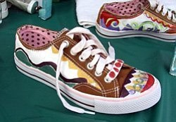 Promotional image of Paint Your Sneakers workshop at Brav...