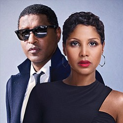 "Promotional photo of R&B artists, Toni Braxton & Kenny ""Babyface"" Edmonds."