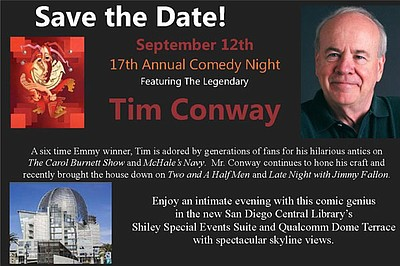 Promotional graphic for the 17th Annual Challenge Center Comedy Night. Courtesy of the Challenge Center.