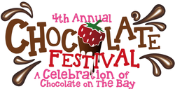Graphic logo for the 4th Annual Chocolate Festival at the Maritime Museum of San Diego.