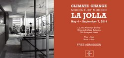 "Promotional flyer for ""Climate Change: Midcentury Modern La Jolla"" exhibit."
