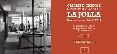 "Promotional flyer for ""Climate Change: Midcentury Modern ..."