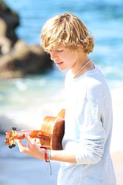 Promotional photo of Cody Lovass performing at the Carlsbad Educational Foundation Summer Concert.