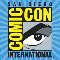 Graphic logo for Comic-Con International coming to San Diego from July 23 - 27, 2014.