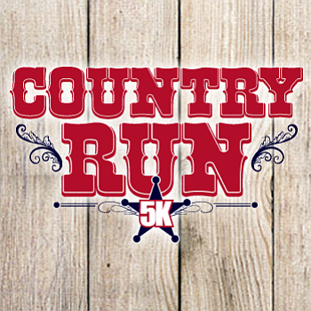 Promotional graphic for the Country Run 5k.