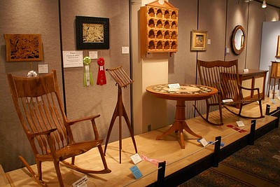Promotional photo for the Design In Wood Show at the San Diego County Fair.