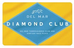 Graphic logo for the Del Mar Diamond Club Card.