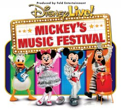 Promotional graphic for Disney Live Mickey's Music Festival.