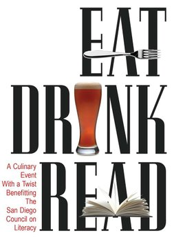 Promotional graphic for Eat.Drink.Read A Culinary Event For Literacy.