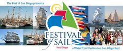 Promotional graphic for Festival of Sail August 29 - September 1, 2014.