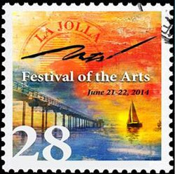 Promotional graphic for The 28th Annual La Jolla Festival Of The Arts on June 21 & 22, 2014.