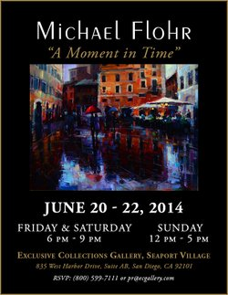 """Promotional graphic for """"A Moment In Time"""" by Michael Flohr."""
