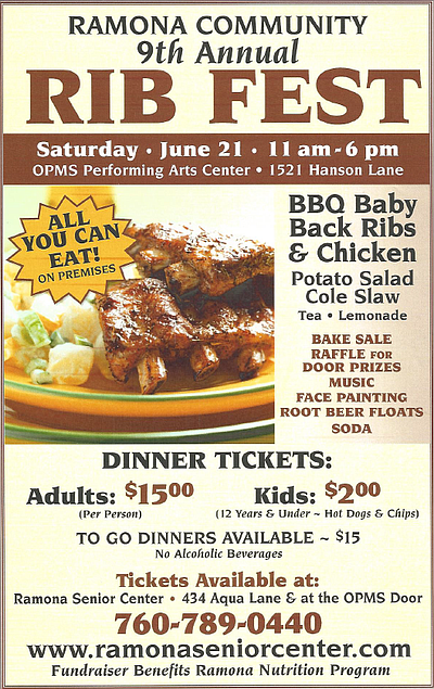 Promotional graphic for the 9th Annual Community Rib Fest.
