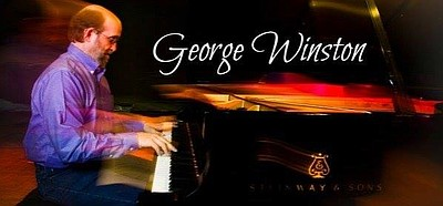 Promotional graphic for George Winston in Concert.