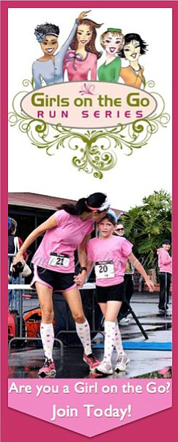 Promotional graphic for the Girls On The Half Marathon, 1...