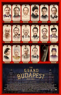 """Promotional graphic for """"The Grand Budapest Hotel."""""""
