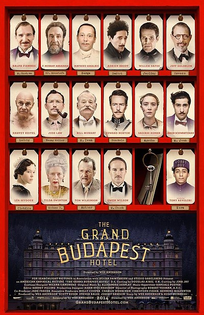 "Promotional graphic for ""The Grand Budapest Hotel."""