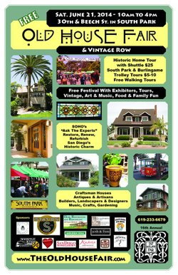 Promotional graphic for the 2014 Old House Fair & Vintage Row.