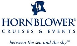 Graphic logo for Hornblower Cruises and Events.