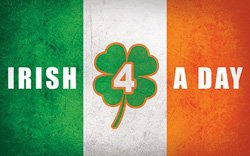 Promotional graphic for Irish 4 A Day on March 15, 2014.