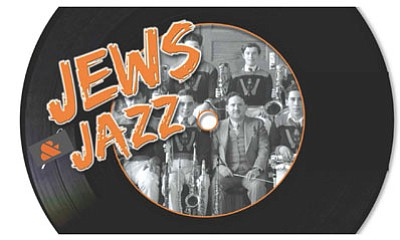 Promotional graphic for Jews and Jazz: featuring Norbert Stachel with Yale Strom & Hot Pstromi. Courtesy of SDSU Jewish Studies Program.