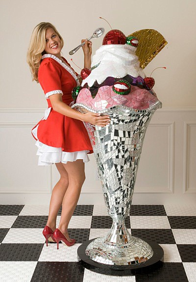 "Promotional photo of Jean Wells, ""Giant Sundae,"" 2007"
