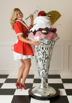 "Promotional photo of Jean Wells, ""Giant Sundae"" 2007. Courtesy photo of the Oceanside Museum of Art."