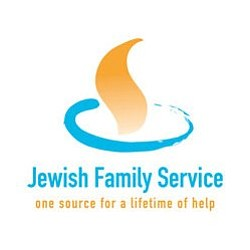 Graphic logo of the Jewish Family Service of San Diego, t...