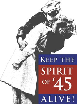 Promotional graphic for Keep the Spirit of '45 ALIVE!