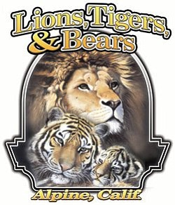 Graphic logo for Lions, Tigers & Bears located in Alpine.