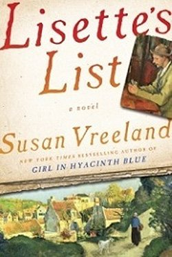 """Promotional photo of book cover of Susan Vreeland's """"Lisette's List""""."""