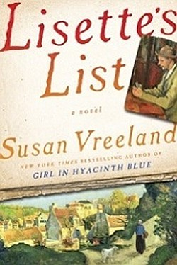 "Promotional photo of book cover of Susan Vreeland's ""Lisette's List""."