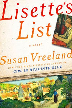 "Cover photo of the hardcover book ""Lisette's List"" by Susan Vreeland."