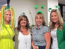 Promotional photo from the 2013 St. Patrick's Day Party at Oakwood Escrow. Courtesy photo of Oakwood Escrow.