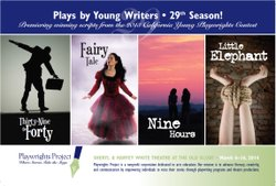 Promotional graphic for 29th Annual Festival of Plays by Young Writers. Courtesy of Playwrights Project Productions.