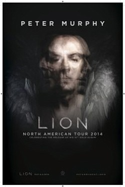 Promotional graphic for Peter Murphy's 2014 Tour.