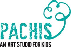 Graphic logo for Pachis, An Art Studio For Kids. Courtesy of Pachis