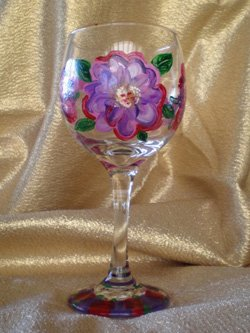 Promotional photo of Painted Wine Glass at Bravo School of Art. Courtesy image of Bravo School of Art.