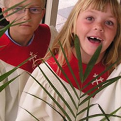 Promotional graphic for Palm Sunday Worship at First United Methodist Church of San Diego.