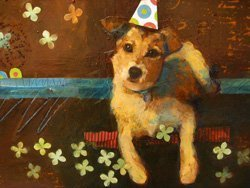 Promotional image of a Pet Portrait made at Bravo School of Art. Courtesy image from Bravo School of Art.