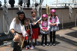 Promotional photo of guests at a previous Pirate Days at the Maritime Museum May 17 & 18, 2014.