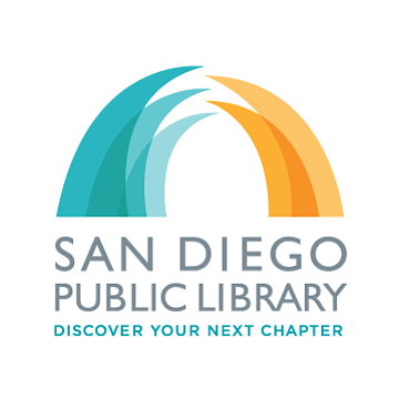 Graphic logo of San Diego Public Library.