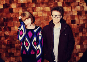 Promotional photo of Jenn Wasner and Andy Stack of Wye Oak.