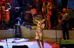 Promotional photo of Sharon Jones & the Dap-Kings performing at House of Blues San Diego on March 22, 2014.