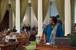 Promotional photo of Assemblymember Shirley Weber and her...