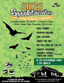 Promotional graphic for Sikes Spook-tacular on October 26...