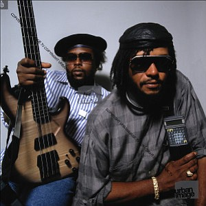 Photo of reggae group, Sly & Robbie.
