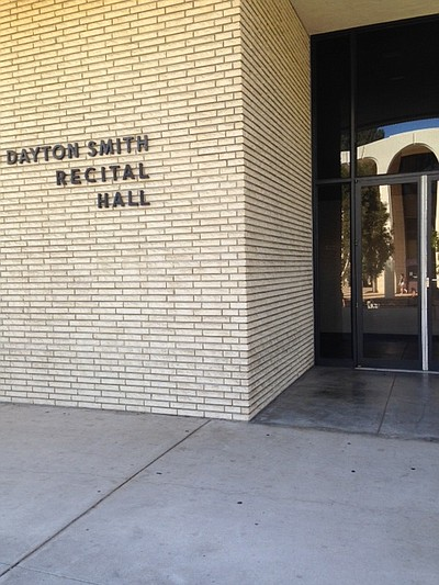 Exterior image of J Dayton Smith Recital Hall located on SDSU Campus.