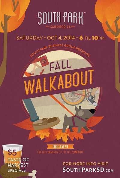 Promotional graphic for South Park's Fall Walkabout. Courtesy of South Park.