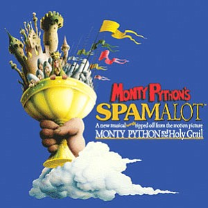 Promotional graphic for the musical, Monty Python's Spamalot.